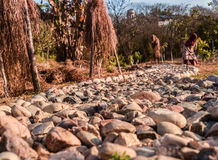 Stone Path and labour Royalty Free Stock Photo