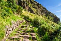 Stone path leading to the peak Royalty Free Stock Image