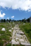 Stone path in mountains Royalty Free Stock Photos