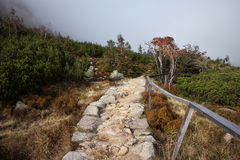 Stone Path in the Mountains Royalty Free Stock Photos