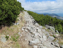 Stone path in the mountains Stock Image