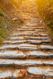 Stone path in mountains Stock Photography