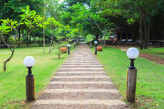 Stone path in outdoor park Royalty Free Stock Photo