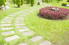 Stone path. In the park Royalty Free Stock Image
