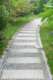 Stone path in park Royalty Free Stock Photo
