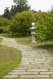 The stone path and  sculpture Stock Photography