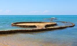 Stone path in the sea Stock Image