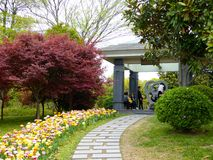 Stone path at Shanghai flower port Royalty Free Stock Photography