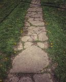 A Stone Path in Spring Stock Image
