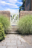 Stone Path to Garden Gate Royalty Free Stock Photography