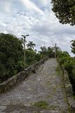 Stone path to historic construction. Stone path to Morro Itaguacu, which leads to the convent of Our Lady of Conception, built in the first decade of the 18th royalty free stock image
