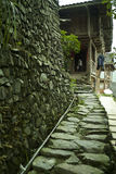 Stone path to house Stock Photography