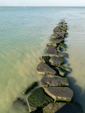 Stone path to the Ocean. A Stone path to the Ocean, at Deauville (France Royalty Free Stock Photo