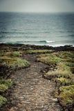 Stone path to the sea Stock Image