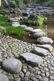 Stone path in University park in Tokyo. Japan royalty free stock image
