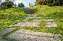 Stone path walk to top Royalty Free Stock Photos