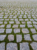 Stone path. Walk way made of granite Royalty Free Stock Images
