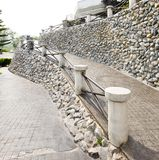 A stone path and wall Stock Photography