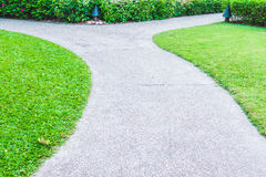 Stone path way around beautiful garden Stock Photography
