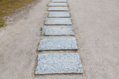 Stone path way in park. Stock Image