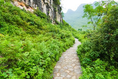 Stone path in yangshuo china Royalty Free Stock Images