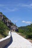 Stone path Zagoria Epirus Stock Image