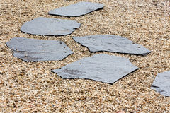 Stone path in the Zen Garden Royalty Free Stock Images