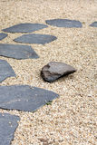 The Stone path in a Zen Garden Stock Images