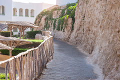 Stone paths for walking on the hotel Stock Photography