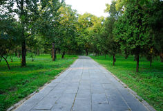 Stone pathway at Confucius Family Cemetery Stock Photography