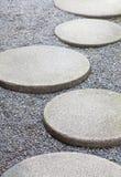 Stone pathway design Stock Images