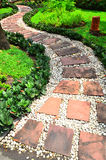 Stone Pathway in a garden Stock Photos
