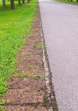 Stone pathway into garden Royalty Free Stock Photos