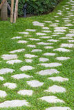 Stone pathway in the garden Stock Photography