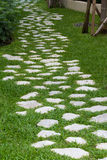 Stone pathway in the garden Stock Photos