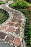 Stone pathway in the garden Royalty Free Stock Photography