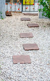 Stone pathway in a garden Royalty Free Stock Photography