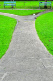 Stone Pathway in Green Park Stock Photography