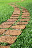 Stone Pathway In A Lush Green Park Stock Photo