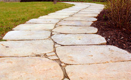 Stone pathway. In a park Stock Photo