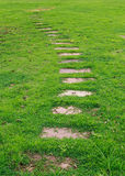 Stone pathway. In the park Royalty Free Stock Photography