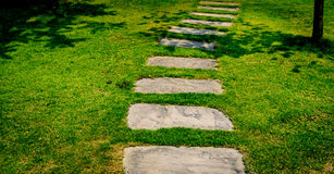 Stone Pathway in the park Royalty Free Stock Images