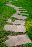 Stone Pathway in the park stock photography