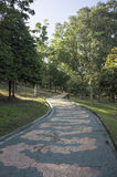 Stone Pathway in the Park Royalty Free Stock Photo