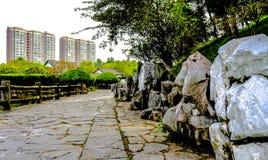 Stone Pathway of Shucheng China stock photography