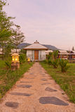 Stone pathway to hut homestay. In thai mountain Royalty Free Stock Images
