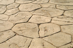 Stone Patio. Close up of tan stone patio or walk Royalty Free Stock Images