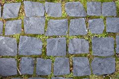 Stone pattern. Stones in sidewalk Royalty Free Stock Image