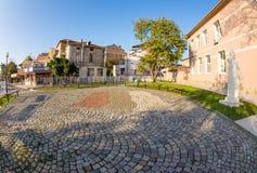 Stone pattern of cobblestones in Pomorie, Bulgaria Stock Photos