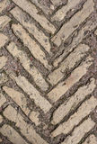 Stone pattern on land roadway Stock Photography